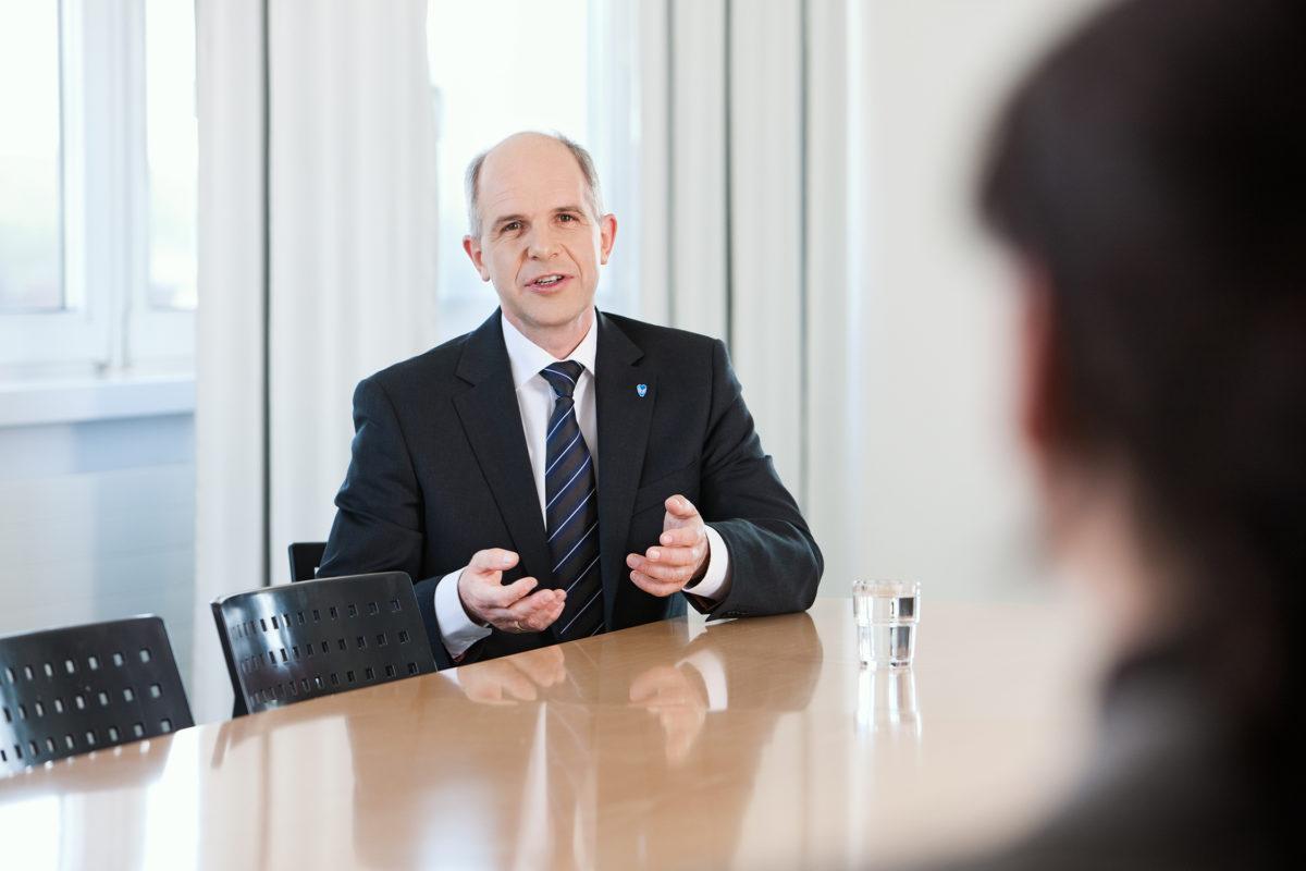 Dr. Markus Horneber, Vorstandsvorsitzender AGAPLESION gAG, bei Transformation Leader